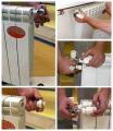 как установить батарею отопления своими руками
