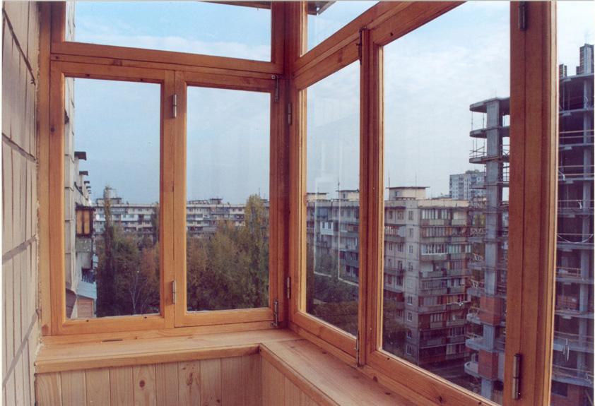 Деревянные рамы для балкона купить..