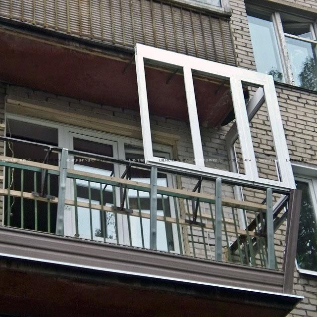 остекление балкона ПВХ профиль